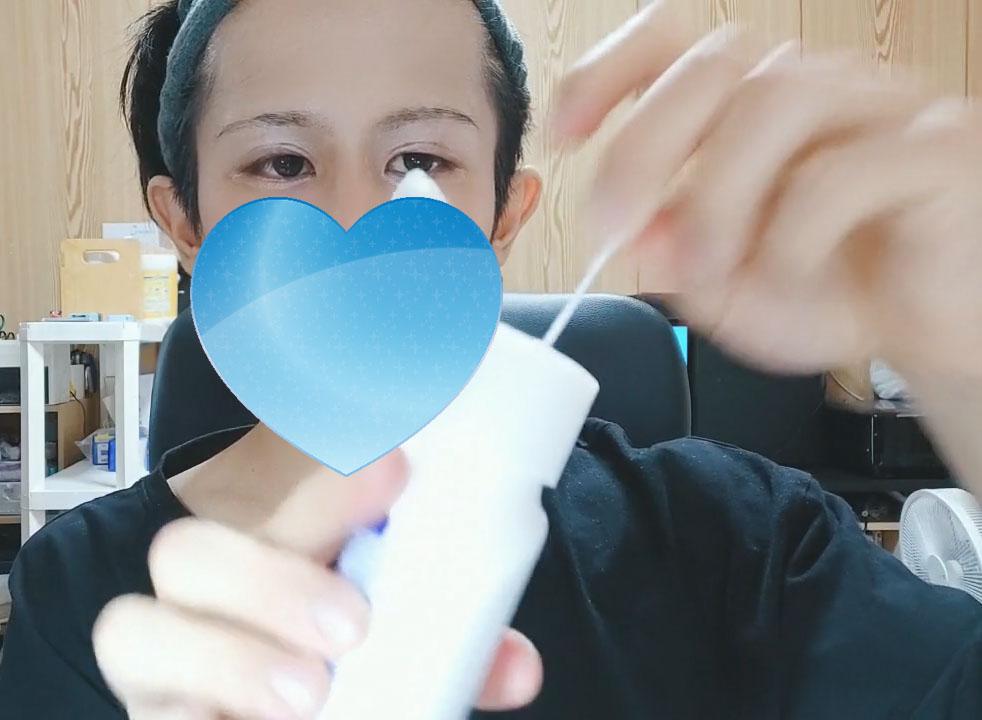 綿棒+乳液