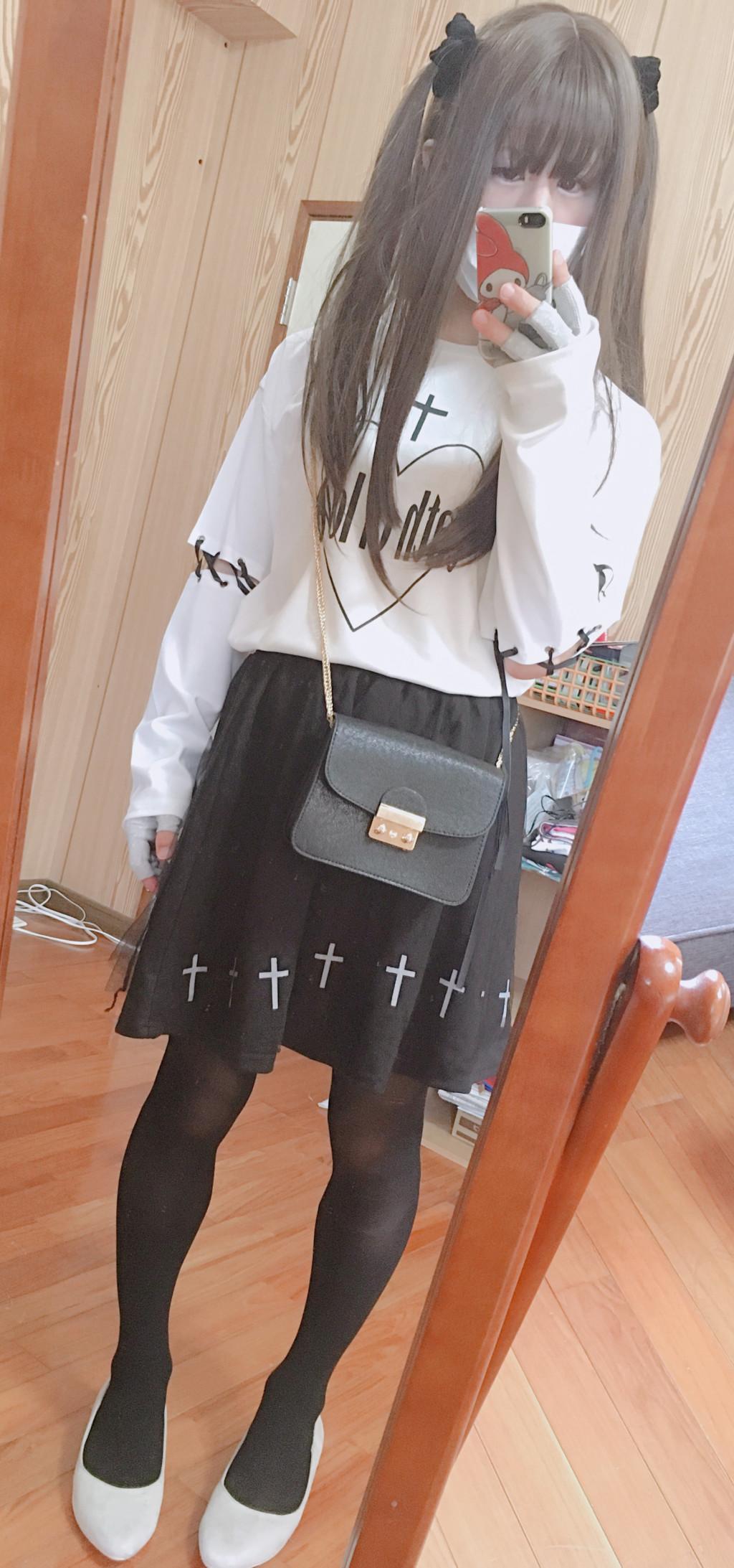 7ゴスロリ トレーナー+スカート