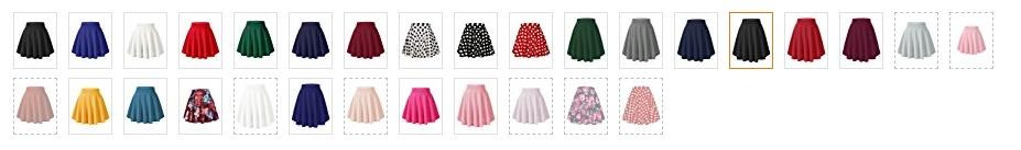 フレアスカート カラー